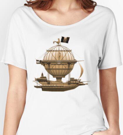 Steampunkesque Vintage Hot Air Balloon Airship Thing Women's Relaxed Fit T-Shirt
