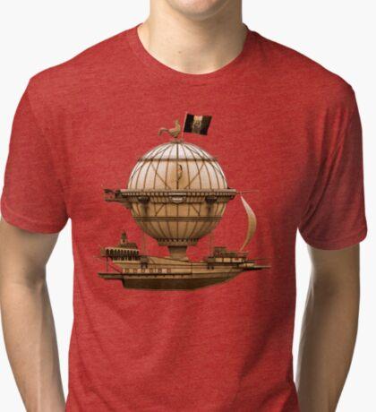Steampunkesque Vintage Hot Air Balloon Airship Thing Tri-blend T-Shirt