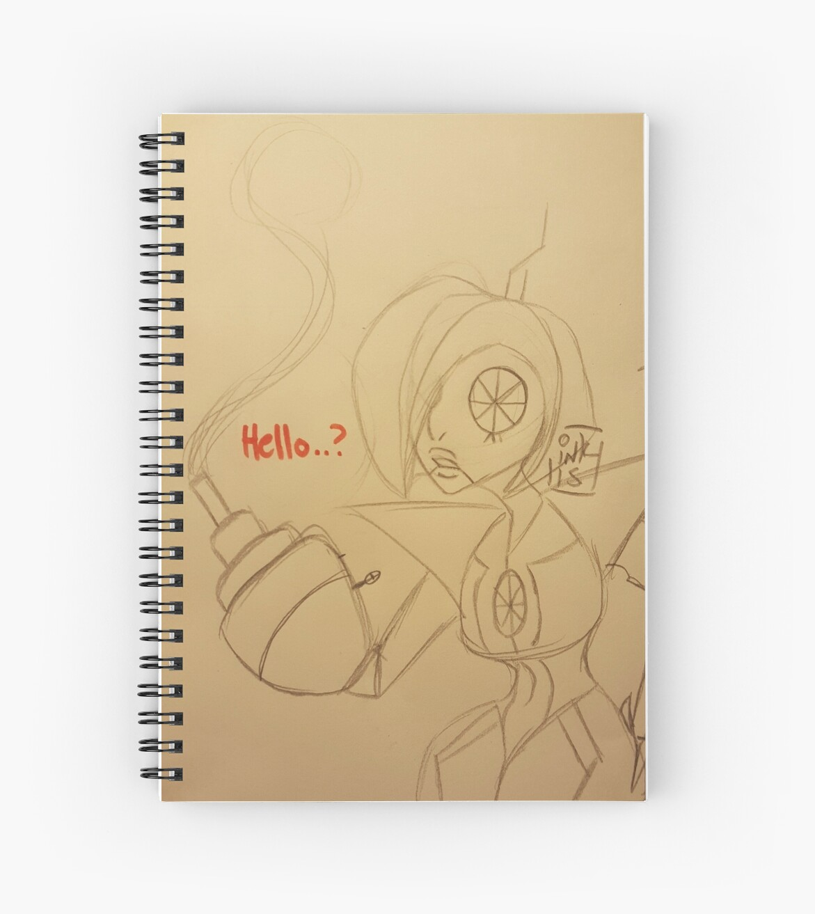 Androidportal 'android portal turret' spiral notebookinksketchers