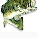 Large Mouth Bass by thatstickerguy