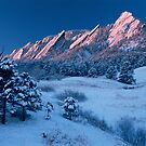 Cathedral - The Flatirons At Sunrise by Gregory J Summers