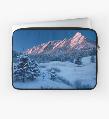 Cathedral - The Flatirons At Sunrise Laptop Sleeve