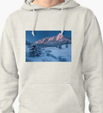 Cathedral - The Flatirons At Sunrise Pullover Hoodie