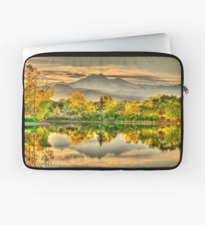 Golden Moments, Gilded Dreams Laptop Sleeve