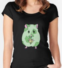 Zombie Hamster Women's Fitted Scoop T-Shirt
