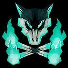 Pokemon - Alolan Marowak Skull by Levo