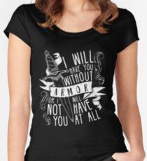 Camiseta entallada de cuello ancho Te tendré sin armadura | Seis de cuervos
