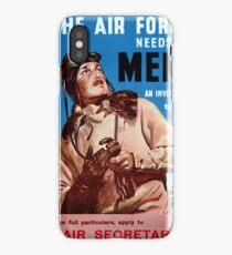 New Zealand Vintage Poster Restored iPhone Case/Skin