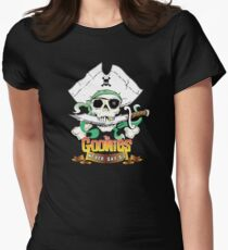 The Goonies - Never Say Die Black Variant Women's Fitted T-Shirt