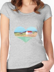 Hebridean Bay 2 Women's Fitted Scoop T-Shirt
