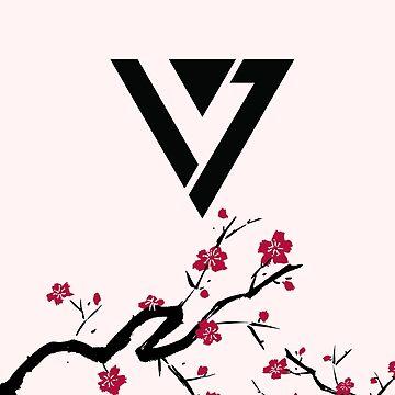 Seventeen Cherry Blossom Logo by wonnie