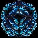 Blue Butterfly Mandala - Asymmetrical by jenithea