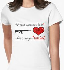 Valentine for the FPS Gamer Geek Valentine's Day Card T-Shirt