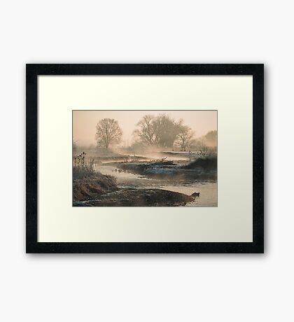 In To The Mystery - Sunrise At White Rock Framed Print