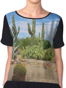 Cactus Garden Women's Chiffon Top