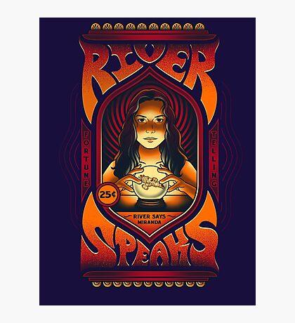 River Speaks Photographic Print