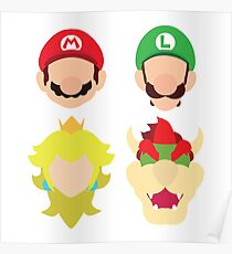 Super Mario Characters Poster