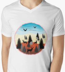 Landscape Men's V-Neck T-Shirt