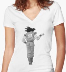 """Goku, best friend (To buy in combo with """"Vegeta, best friend"""") Women's Fitted V-Neck T-Shirt"""