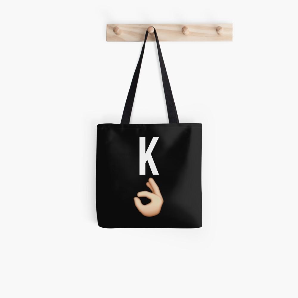 K Emoji Stofftasche