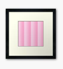 Pink shades,vertical,stripes,trendy,modern,girly,contemporary Framed Print