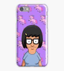 Tina Belcher Unicorn Pattern Purple iPhone Case/Skin