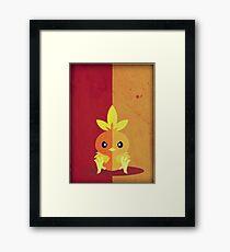 Pokemon - Torchic #255 Framed Print
