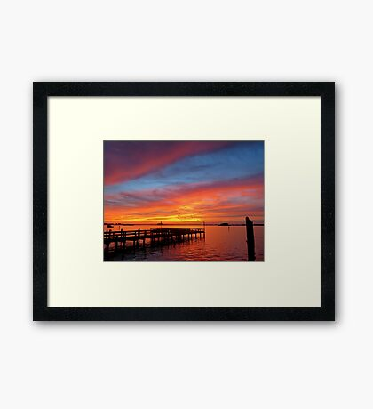 When Sky Meets Sea Framed Print