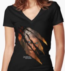 Sephiroth Women's Fitted V-Neck T-Shirt