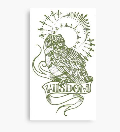 wisdom owl tattoo shirt Canvas Print