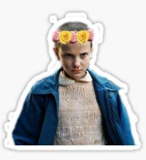 Eleven flower crown Sticker
