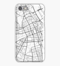 Warsaw Map, Poland - Black and White iPhone Case/Skin