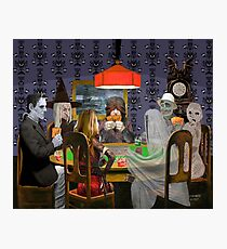 Classic Monsters Not Playing Poker - Playing Halloween Game: Halloweeja Photographic Print