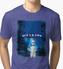 Forest UFO Close Encounter Tri-blend T-Shirt