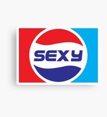 Spoof Parody Funny Sexy Logo Canvas Print