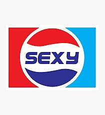 Spoof Parody Funny Sexy Logo Photographic Print