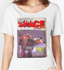 Spicy Space Stories Fake Pulp Cover Women's Relaxed Fit T-Shirt