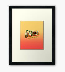 Greetings from Florida, The Land of Sunshine Framed Print