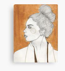 Gold Girl Canvas Print