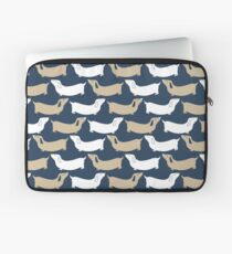 dachshund - navy and tan Laptop Sleeve