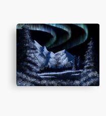 Bob Ross Alaskan Northern Lights Canvas Print