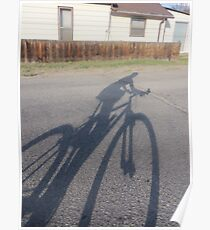 In the Shadows....a bike Poster