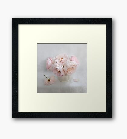 Bouquet of Pastel June Roses #2 Framed Print
