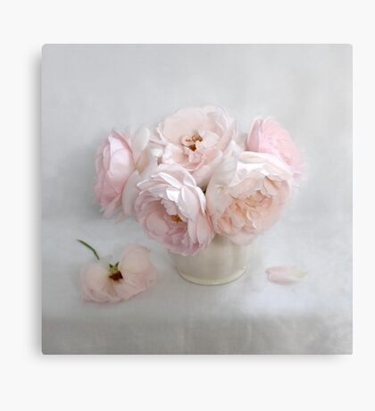 Bouquet of Pastel June Roses #2 Canvas Print