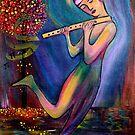 Mystical Flute Player by Rachel Ireland Meyers