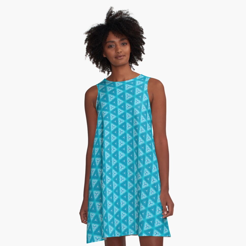 Pila Fashion Design - Geometric A-Line Dress Front
