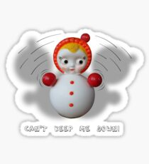 Can't Keep Me Down!  Roly-poly doll as Symbol of Resilience Sticker