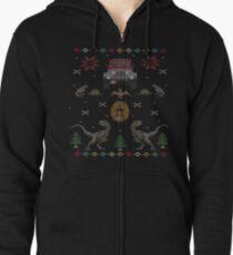 Hässlicher jurassischer Weihnachtsstrickjacke Kapuzenjacke