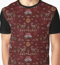 027c3162 Ugly Jurassic Christmas Sweater Graphic T-Shirt