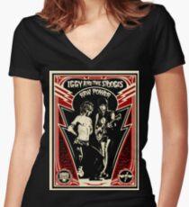iggy pop Women's Fitted V-Neck T-Shirt